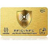 Tarjeta Anti RFID/NFC protección Tarjeta de Crédito sin Contacto, 1 suffit, Finito los Carcasas y Fundas, el Billetera EST Totalmente Protegido, Tarjeta de Crédito, Tarjetas Azules, CB, Pasaporte.