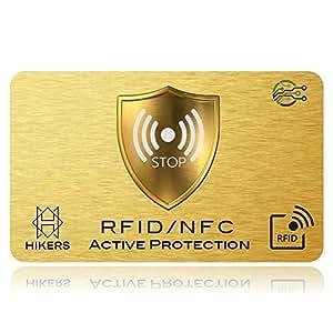 RFID Blocker NFC Schutzkarte - Störsender - Eine Karte schützt die gesamte Geldbörse vor Datendiebstahl - Nie wieder einzelne RFID Schutzhüllen für Kreditkarten, EC-Karte, Personalausweis, Reisepass