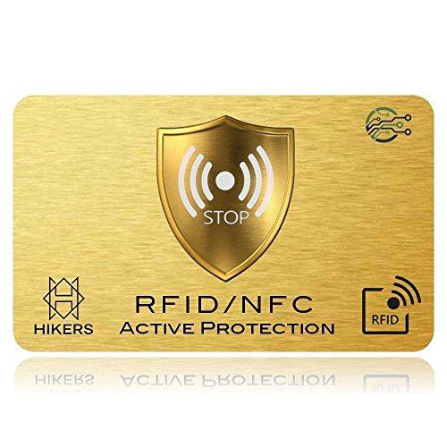 Carte Anti RFID/NFC Protection Carte bancaire sans Contact, 1 Suffit, Fini Les étuis Pochettes, Le Portefeuille est entièrement protégé, Carte de crédit, Cartes Bleues, CB, Passeport. Bloquage RF