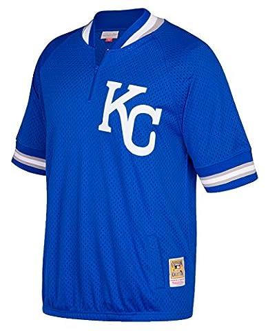 Kansas City Royals Mitchell & Ness MLB Authentic 1/4 Zip
