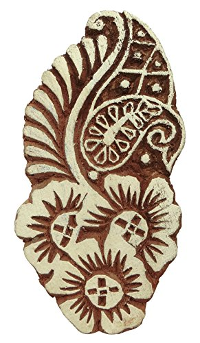 Holz-Stempel Dekorative Textildruck Blöcke Paisley-Muster-Hand geschnitzt