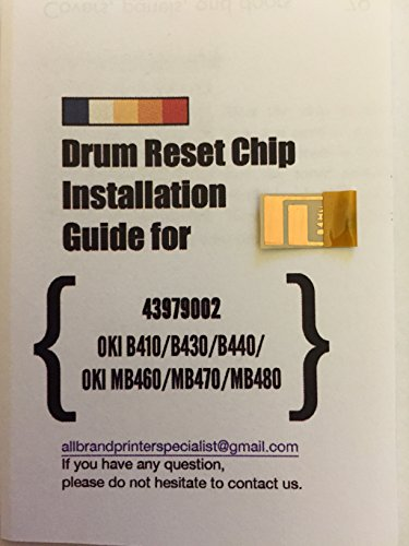 Preisvergleich Produktbild [B4H0] Super Easy Drum Reset Chip for OKI 43979002 Drum unit. Compatible for B410, B430, B440, MB460, MB470, MB480 (Single Pack)