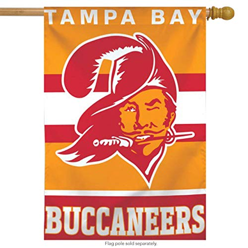 ASKYE Tampa Bay Buccaneers Vertical NFL House Flag Licensed Football Banner for Party Outdoor Home Decor(Size: 12.5inch W X 18 inch H)