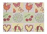 APELT Platzset, Baumwoll-Mischgewebe, Gelb/bunt, 32 x 45 x 0.2 cm