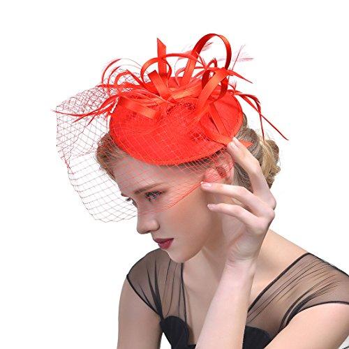 LYQZ Europäischen und amerikanischen Stil Hochzeit Hüte mit Schleier Bankett Bühne Headwear Braut Kopfschmuck (Farbe : ()
