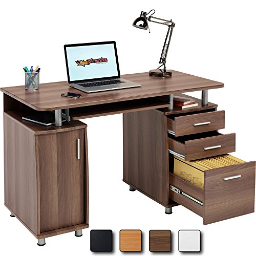 Moderne Holz-finish Schrank (Piranha Trading Großer Computer & Schreibtisch mit Registratur A4,, 2Stationery Schubladen & Schrank)