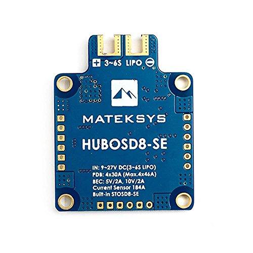 LITEBEE Matek PDB OSD + BEC 5V&10V Power Distribution Board 3S - 6S Lipo 180A Stromsensor für FPV Racing RC Drone Quadcopter (Dual Voltage Empfänger)