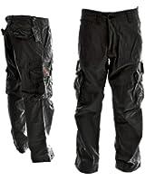 Mens Sizeups Cargo Trousers 52008 - 100% Cotton, Premium Quality Army Combat Pants