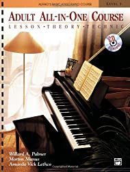 Adult All in one course 1 Book/CD --- Piano - Palmer, Manus & Lethco --- Alfred Publishing