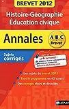 ANNALES BREVET 2012 HIST-GEO/E