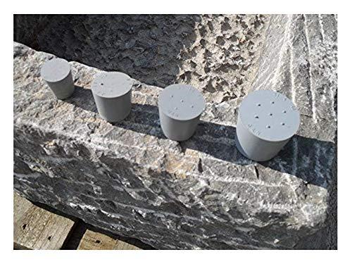 Der Naturstein Garten Verschlußstopfen 44/36mm - Trog Brunnen Steintrog Granittrog Sandsteintrog Gummistopfen Gummi Stopfen