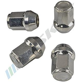 Alurad Shop MKEM141534Zink Radmuttern für Felgen 20 Silber