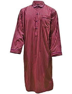Camisón para hombre 100% algodón a rayas - Rojo