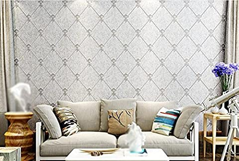 YQMS Simple modern nonwoven fabric wallpaper bedroom sofa television background wall European
