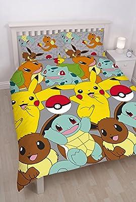 Pokemon infantil/niños oficial Catch Reversible funda de edredón juego de cama por Pokemon