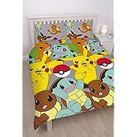 Pokemon Housse de Couette avec imprimé Multicolore - pour lit Double.