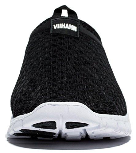 Viihahn Hommes Respirante Mesh Slip On Athletic Exercice Marcher Sport Chaussures De Course Noir