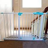 Indoor Extra Breite Baby Tor Druck montiert Sicherheit Tor Einstellbare Welpen Haustier Laufgitter für Treppe Tür Weg Weiß, 75-194 cm Breit, Höhe 77 cm (Größe : 115-124cm)