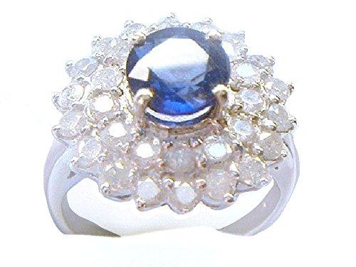 3,23ct Ceylon Zaffiro e Diamanti in oro bianco 14K - Ceylon Sapphire