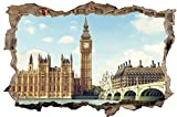 London England Stadt Skyline City Wandtattoo Wandsticker Wandaufkleber D0289 Größe 100 cm x 150 cm