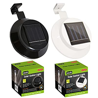Outdoor Solar Gutter Light and Fence Lamp - 3x Ultra Bright Led - Weatherproof - Wall Lighting