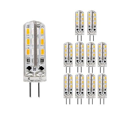 LE 10er Pack 1.5W G4 LED Lampe, Ersatz für 20W Halogenlampen, 12 V DC, 150lm, warmweiß, 3000K, globaler 360° Abstrahlwinkel, LED Birnen, LED Leuchtmittel von Lighting EVER - Lampenhans.de