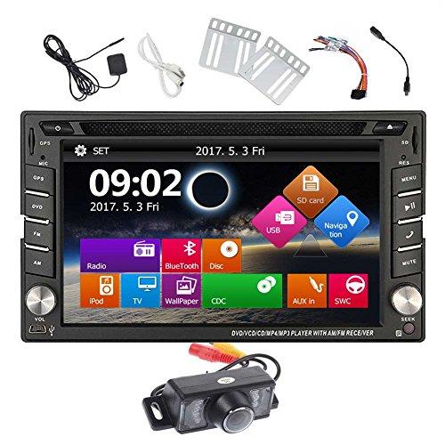 EINCAR Doppel-DIN-GPS-Auto-Stereo-DVD-Spieler GPS-Navigations-Radio Bluetooth 2Din kapazitiver Screen-Autoradio Unterstützung Lenkrad-Steuerung USD SD Multi Language + Free Backup-Kamera und 8 GB Kar