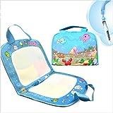Toy24 Magic Aqua Doodle Mat, magisch mit Wasser zeichnen, Wiederverwendbare Spielzeug Matte Malmatte, tragbare Kinder Handtasche, für Kinder ab 3 Jahren, 1 Wasser Stift mit 6 Schablonen, 30cm x 48cm