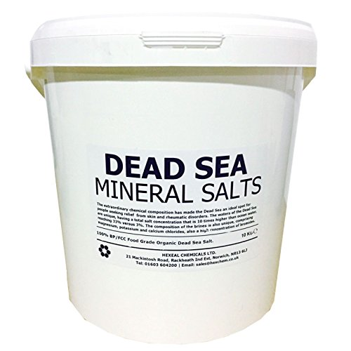 DEAD SEA BATH SALTS | 10KG BUCKET | 100% Natural Organic | FCC Food Grade