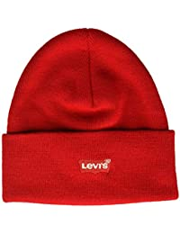 Levi's Red Batwing Embroidered Slouchy Beanie Gorro de Punto para Hombre