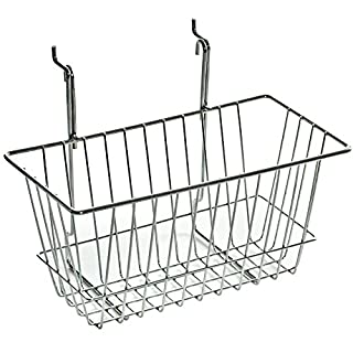 Azar Displays 300620-2pack 300620 Wire Basket, Chrome, Small (Pack of 2)