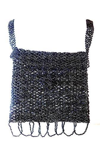 freshfunkyfashion Noir élégant perles sac à main Superbe Soirée porter unique A9