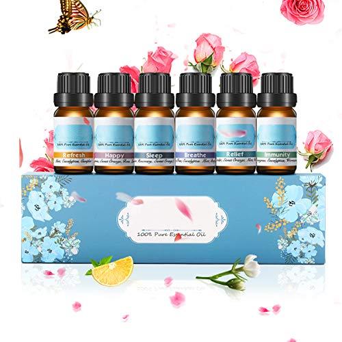 Janolia 6pcs Aceites Esenciales, Aceites Puros y Naturales de Fragancia y Aromaterapia, Set de...