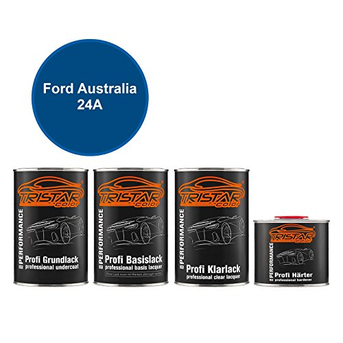TRISTARcolor Autolack Set Dose spritzfertig für Ford Australia 24A Extreme Blue Perl Metallic Grundlack + Basislack + 2K Klarlack 3,5L - 24a Laser