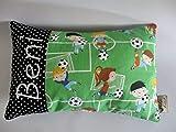Kleines Kissen mit Wunschnamen ♥Fußball♥Geburt♥Taufe♥Kinderkissen