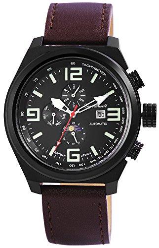Engelhardt Herren analog Armbanduhr mit Leder Armband 389571029003