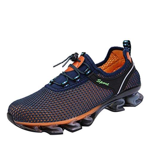CLOOM Casuale in esecuzione scarpe uomo, Scarpe da ginnastica uomo in tinta unita, traspirante Sneakers Running Casuali - Uomo Scarpe da corsa, Scarpe Sportive da uomo Moda(Blu scuro,41)