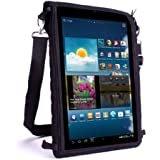 "Portable Messenger Tablet Bag Sling & Carry Case w/ Touch-Sensitive Screen Protector - Fits all 10"" Microsoft Surface / Samsung Galaxy Tab , Note / Go Tab / Lenovo / KitKat / ASUS MeMO Pad , ViVoTab & More - by USA Gear"