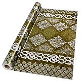 casa pura® Wachstischdecke Lace gold | abwaschbar | ideale Größe wählbar, Meterware (260x140cm)
