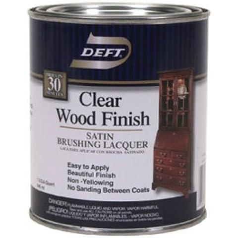 Claro acabado de madera Cepillado lacado satinado, interior, Deft Quart