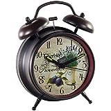 Creaciones meng - Reloj Despertador De Forja Negro Envejecido Ref-12785