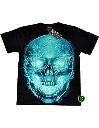 """T-Shirt Rock Chang """"Glow in the dark"""" Chang Heavy Metal Biker Tattoo Rocker Gothic (4022)"""