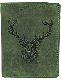 Greenburry Vintage Porte-monnaie motif Cerf cuir 9,5 cm