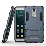 #8: Memore Military Grade Version 3.0 Armor Defender Series Dual Protection Layer Hybrid Tpu + Pc Kick Stand Case Cover For Xiaomi Redmi Note 4,Navy Blue