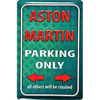 Retro Wandschild Aston Martin Parking Only Deko 20x30cm Nostalgie Metal Sign XPS23WA