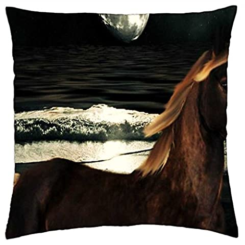 iRocket - Horse And The Moon - Throw Pillow Cover