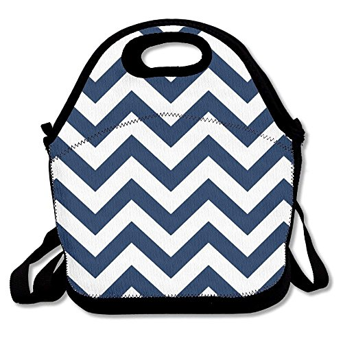 fengxutongxue Chevron Printing Lunch Bags Insulated Zip Cooler Bag Portable Takeaway Film Pack Cooler Bag Lunch Box Package Picnic Outdoor Travel Fashionable Handbag Pouch for Women Men Kids Girls