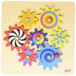 Goki- Juegos de acción y reflejosJuegos educativosGOKIJuego de los Engranajes, Multicolor (58530)