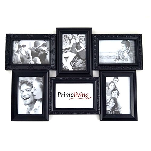 3D Bilderrahmen für 6 Fotos Rahmen schwarz Galerie Kult Photo Frame Neu