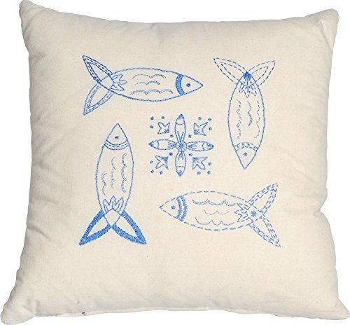 Anette Eriksson Blue Fish Value Kissen, Blau